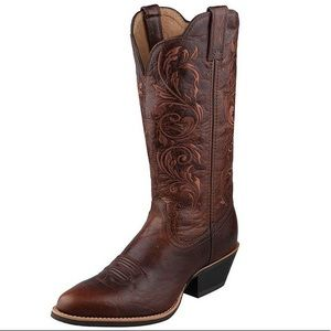Twisted X Brown Embroidered Leather Western Boots